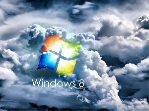 clouds, eight, logo, windows