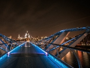 London, Floodlit, bridge