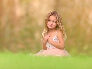 Meadow, small, girl