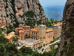 Spain, Mountains, Monastery of Montserrat