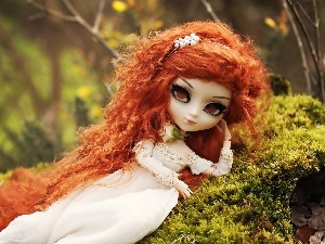 doll, young, Moss, lady