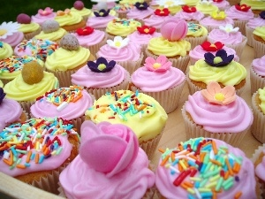 Muffins, color, sweet