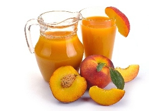 jug, juice, nectar, peaches