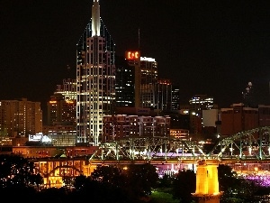 The United States, Town, Night, Nashville