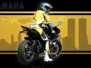 motorcycle, Yamaha YZF R6, overalls