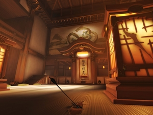 Gym, Hanamura Dojo, Overwatch, interior, game
