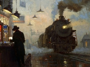 picture, Train, steam