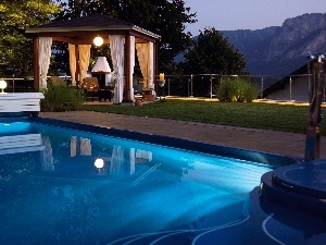 Mountains, shed, Pool, Property