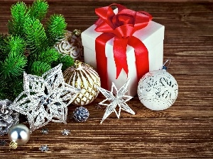 decoration, baubles, Present, Christmas