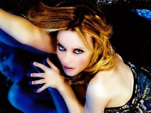 reflection, Kylie Minogue, The look, hand, Women