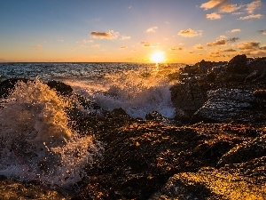 Great Sunsets, sea, rocks