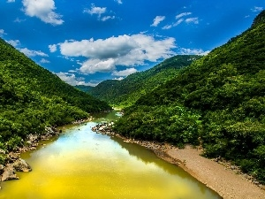 Sky, River, Mountains