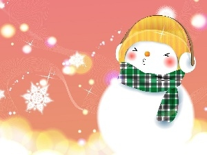 Snowman, winter, snow
