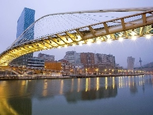 Spain, bridge, Bilbao