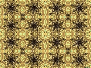 Stylists, fractals, spirals, Golden, Black