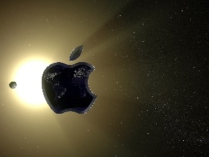 sun, Planet, Apple, Universe, logo
