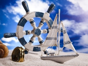 The ship, Watch, Beaches, shell, Sky