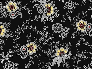 Flowers, black, tle, an