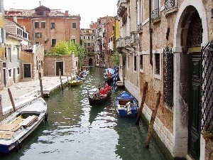 Italy, water, Town, Venice