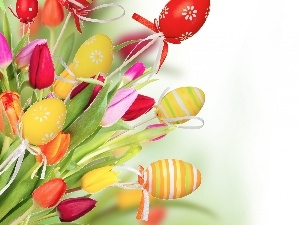 Tulips, Easter, eggs