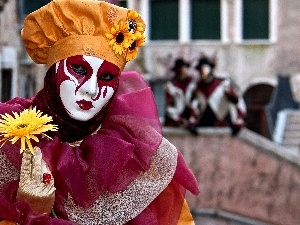 Mask, Women, carnival, Venice, costumes