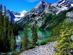 Mountains, trees, viewes, lake