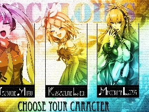 Characters, Vocaloid