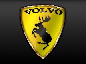 emblem, moose, Volvo cars, automobile