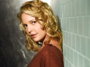 Katherine, Blonde, wall, Heigl