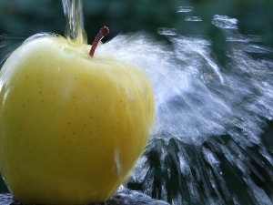 water, Yellow, Apple