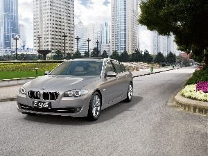 BMW 5 Series, Way, buildings, The F-10