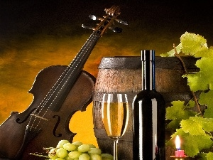 Wine, violin, barrel