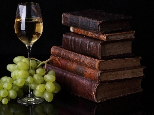 old, Grapes, Wine, Books