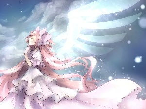 wings, girl, angel