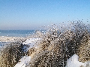 Gda?sk, sea, winter, Dunes