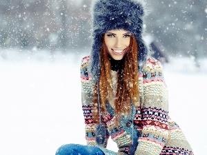 winter, Women, model