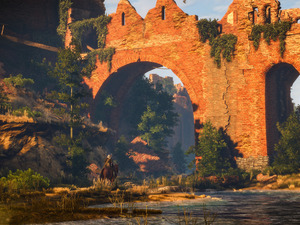Horse, ruins, The Witcher 3 Wild Hunt, Geralt, The Witcher 3 Wild Hunt
