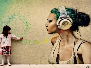 Women, music, girl