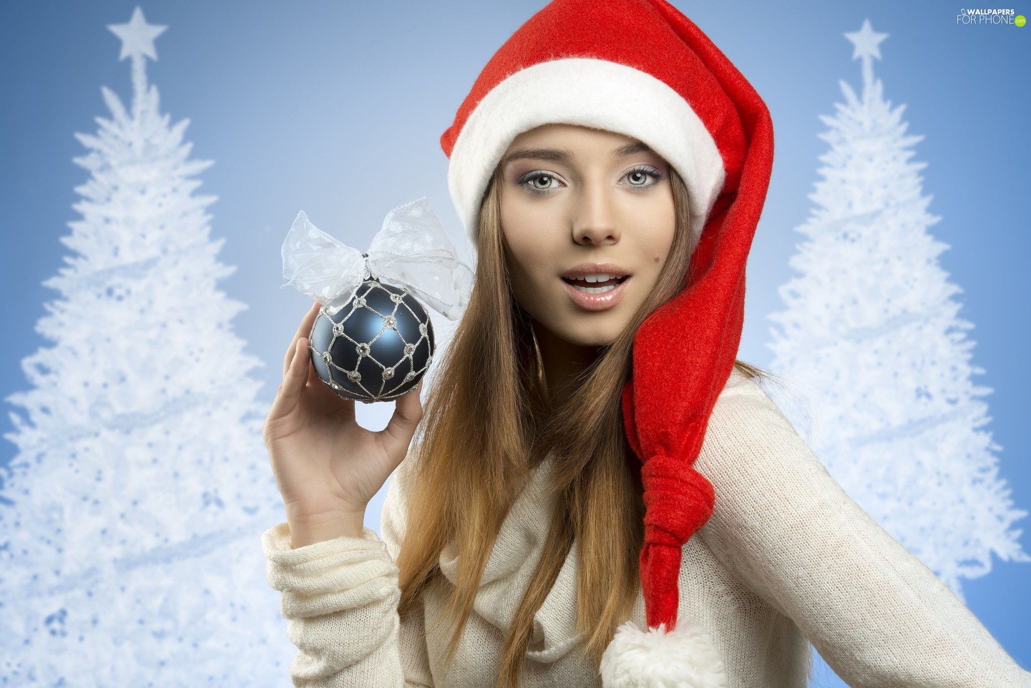 Nicholas, bauble, Women, Hat, longhaired
