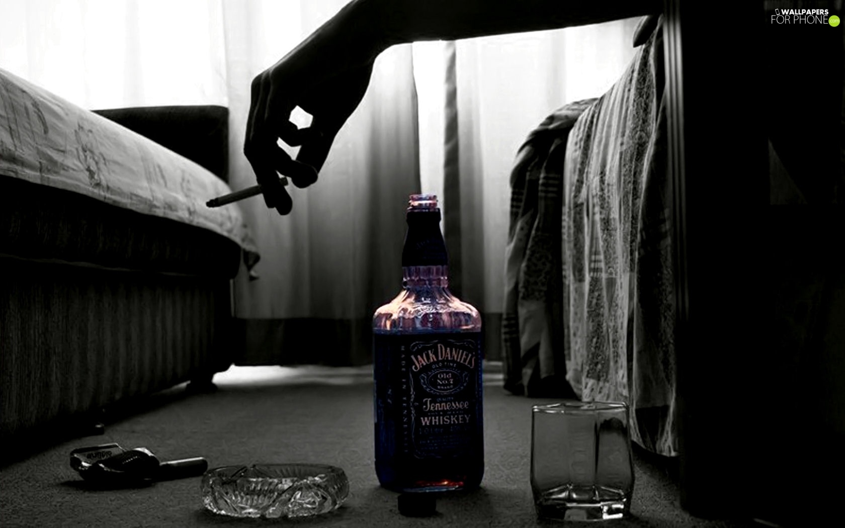 Cigarette Alcohol Hand