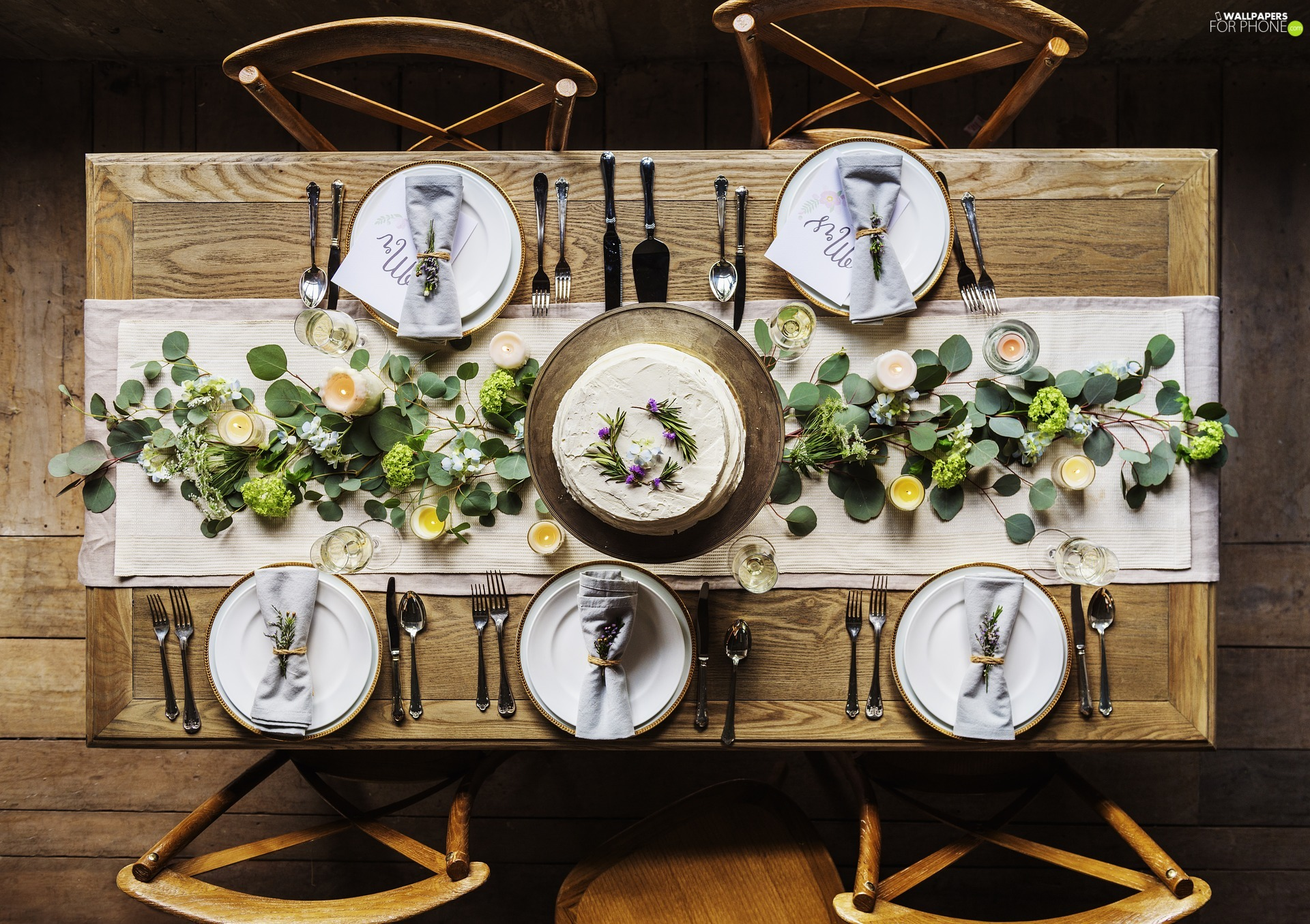 Plates, cutlery, decoration, table, Table