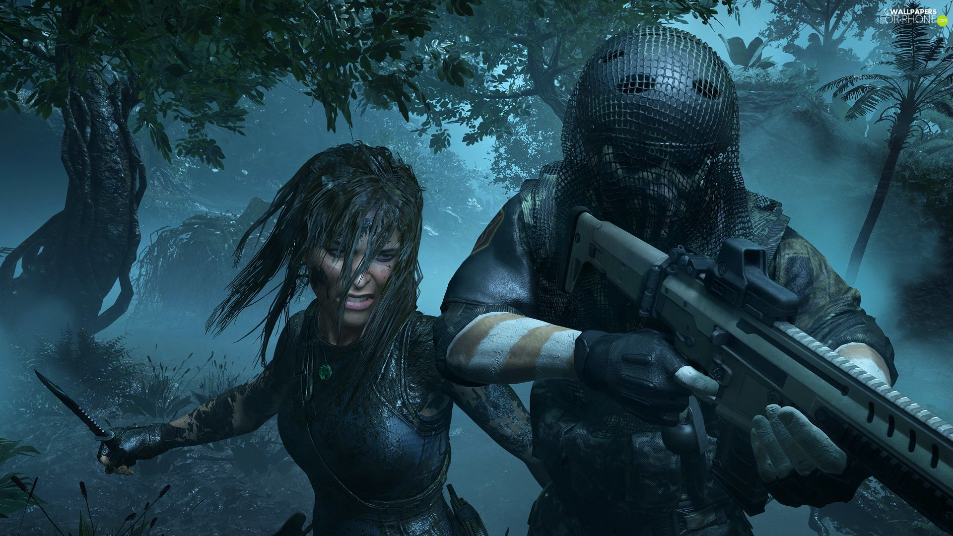 game, Lara Croft, soldier, Shadow of the Tomb Raider