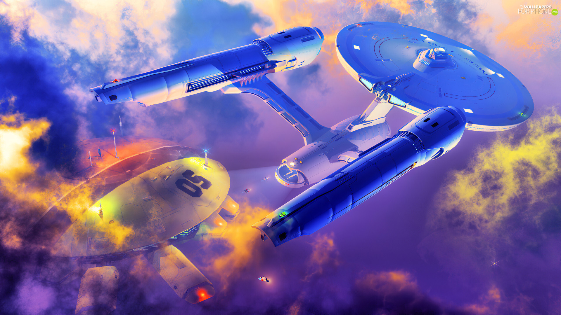 graphics, Enterprise, spaceships