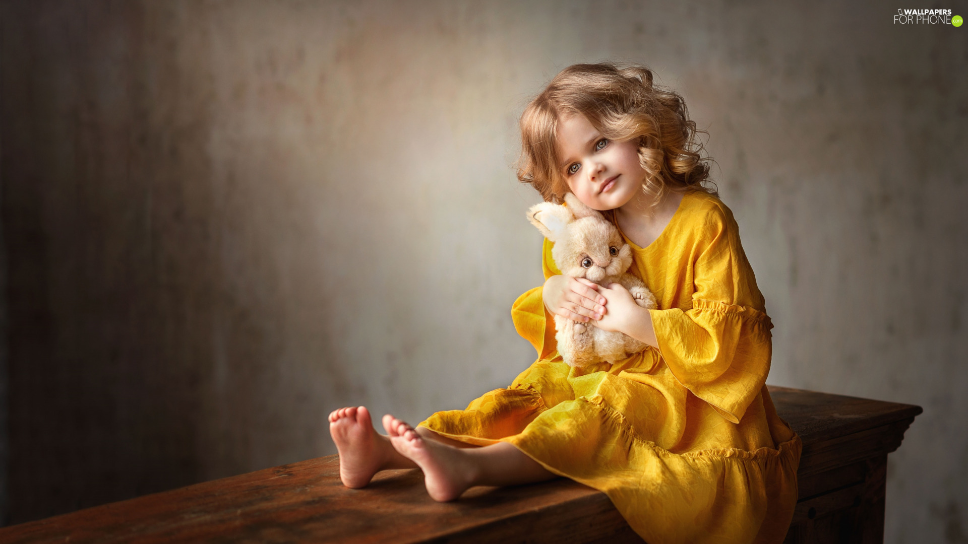 Plush, Bunny, Yellow Honda, dress, girl