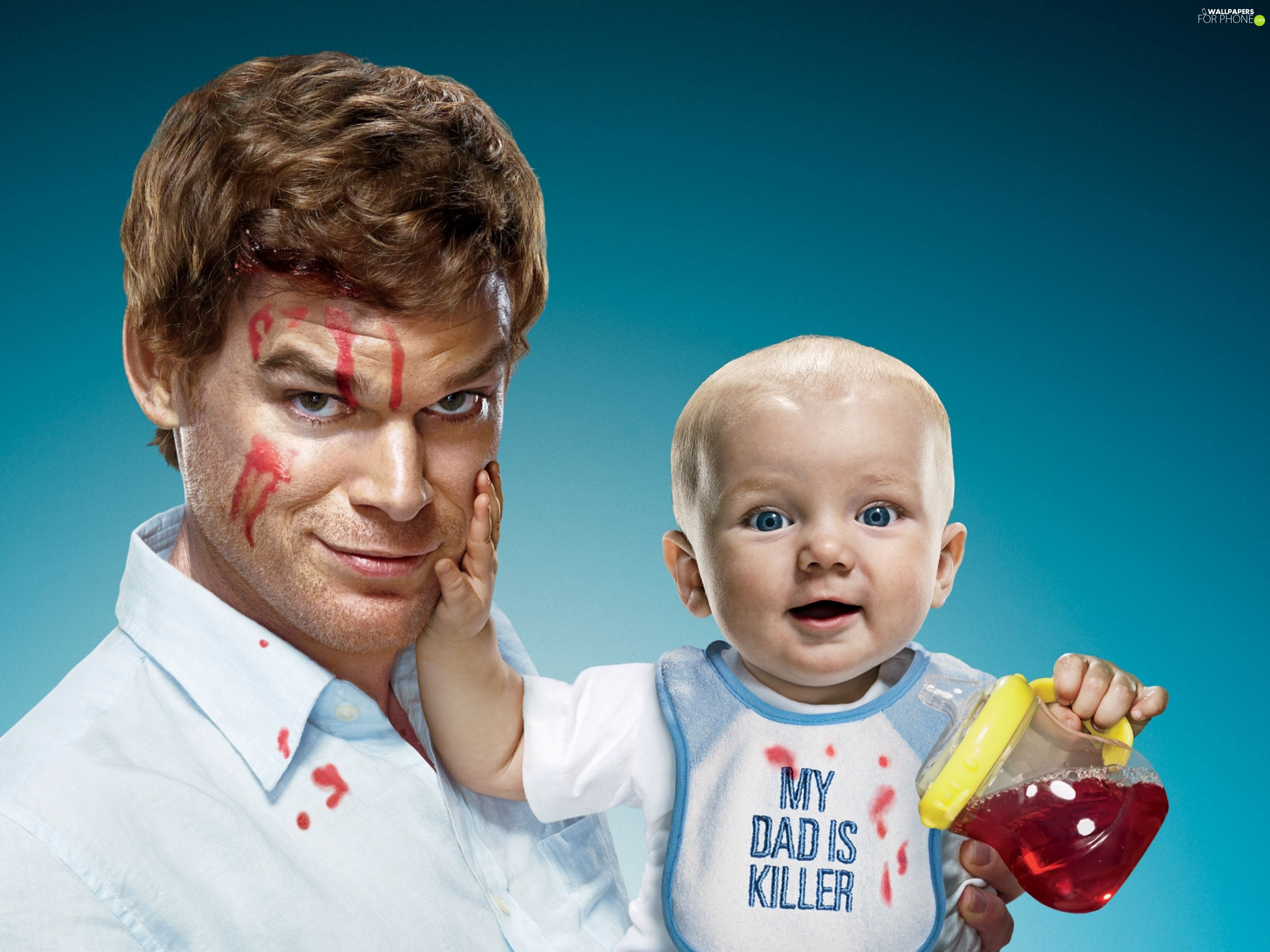 a man, Cup, Michael C. Hall, Kid