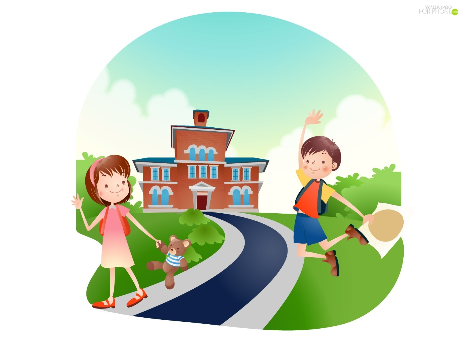 Wallpapers For Children Good Bye Kids School For Phone Wallpapers 1600x1200