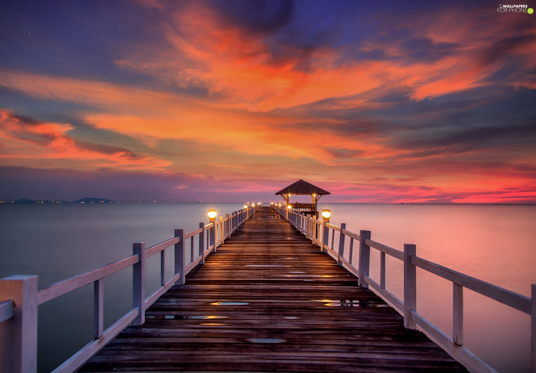 Great Sunsets, pier, Sky