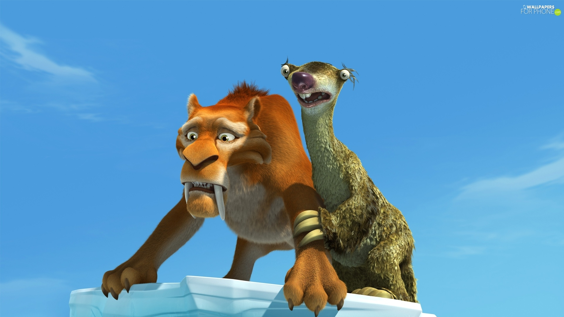 Ice Age, tiger, sloth, Ice Age