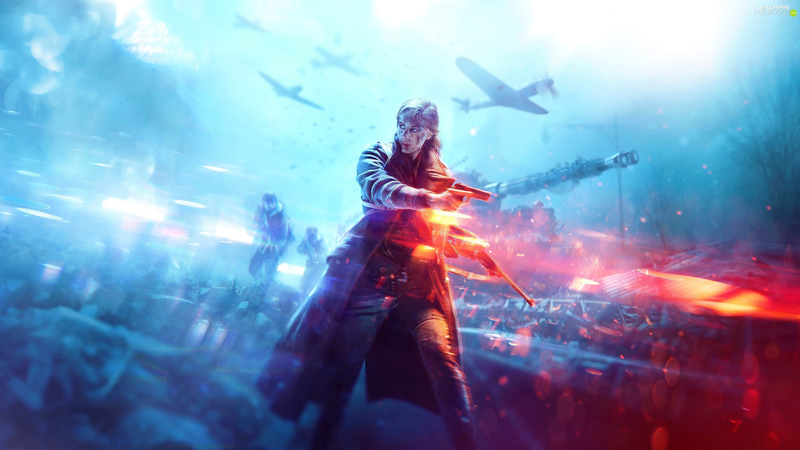 Battlefield V, Weapons, Fight, Women